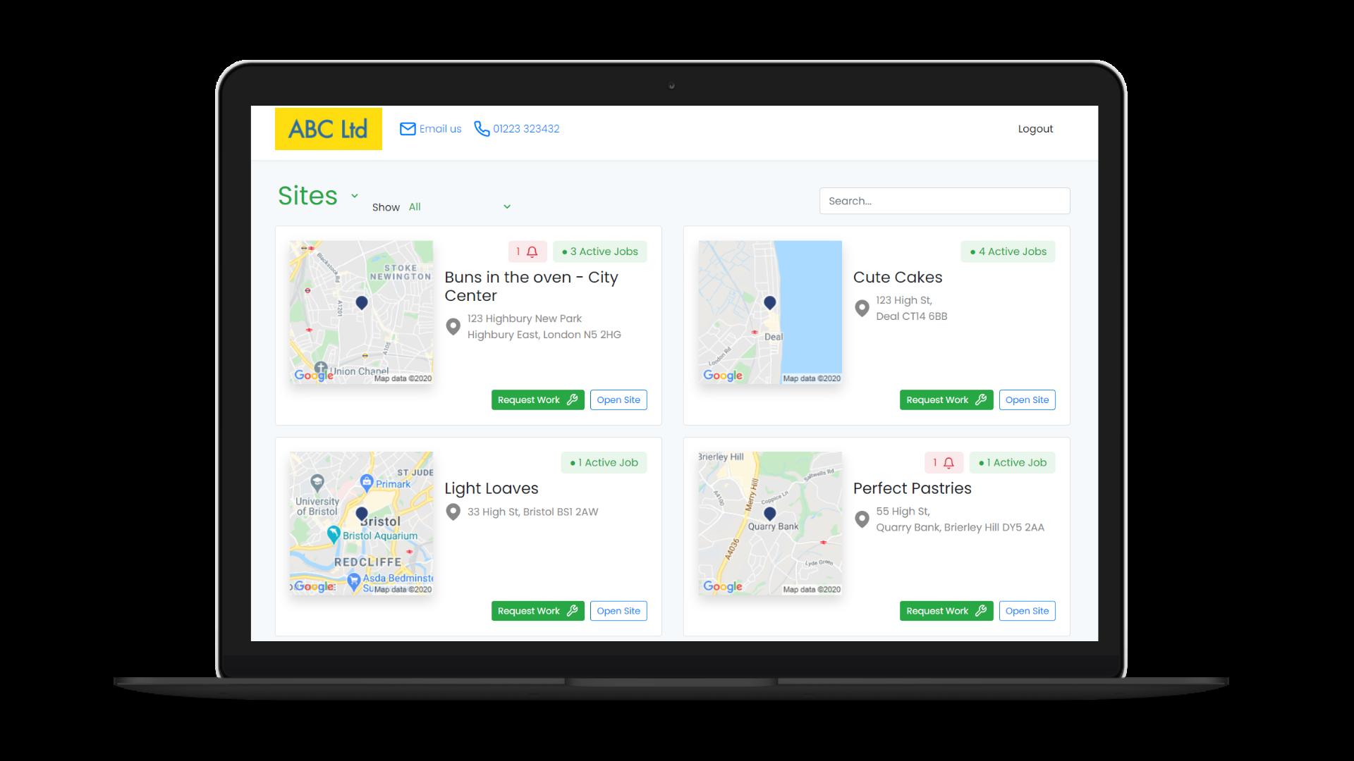Customer Portal screenshot