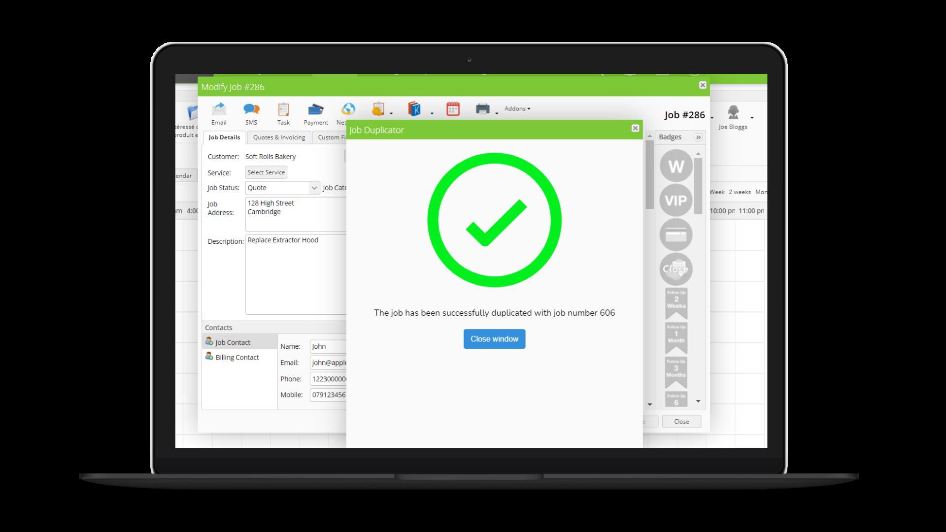 Job Duplicator screenshot