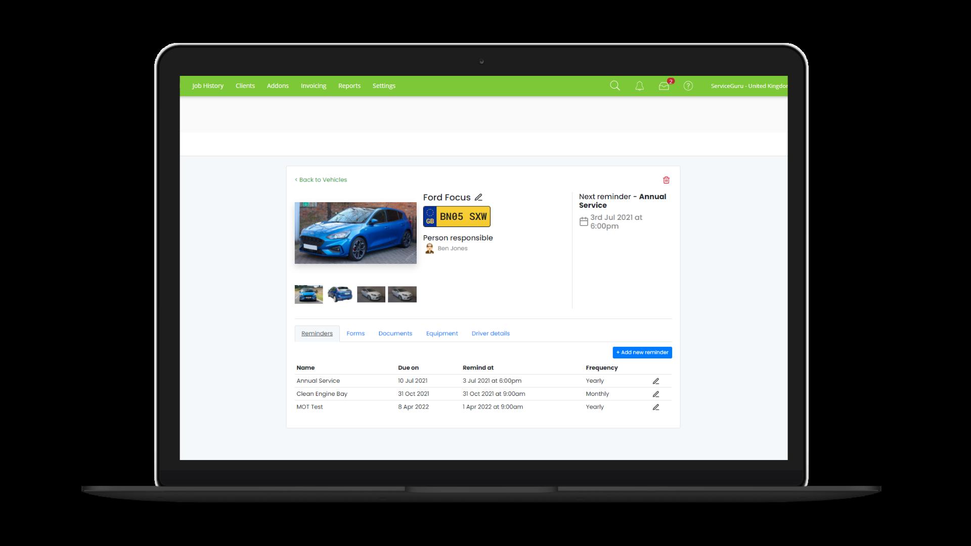 Vehicle Portal screenshot